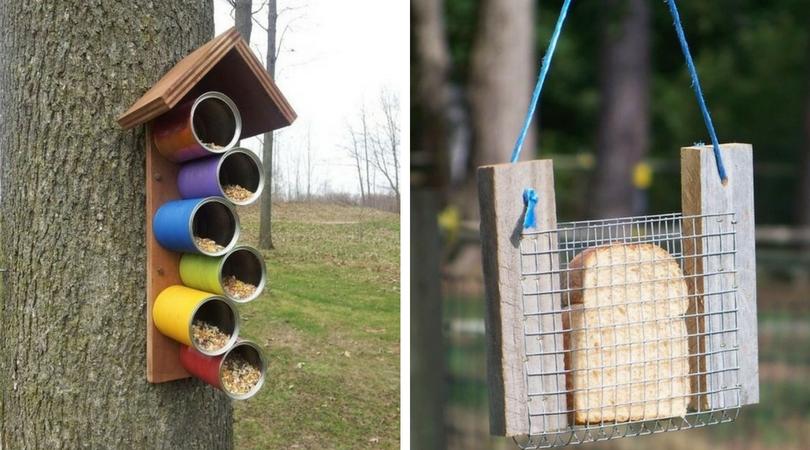 Кармушка для птиц с семечками