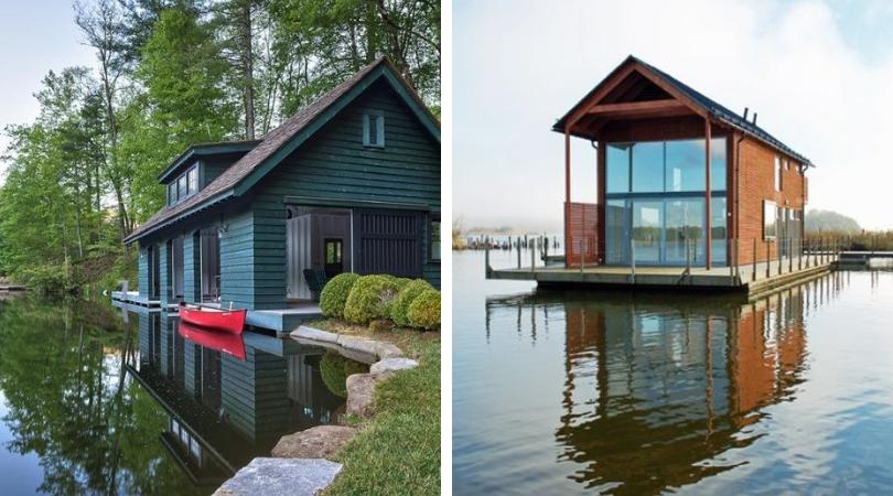 Загородный дом у воды