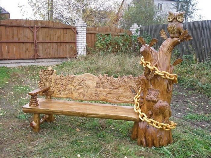 лавочки из дерева