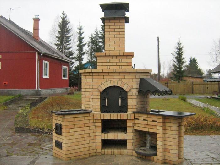 уличная печь барбекю