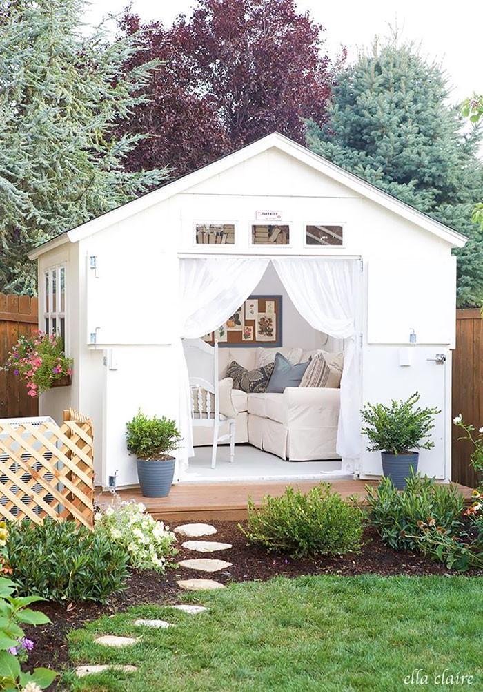 маленькие садовые домики