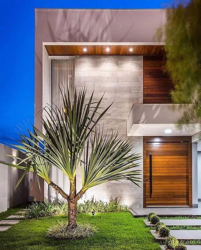 фасадное освещение частного дома