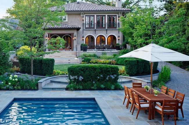 дизайн двора частного дома