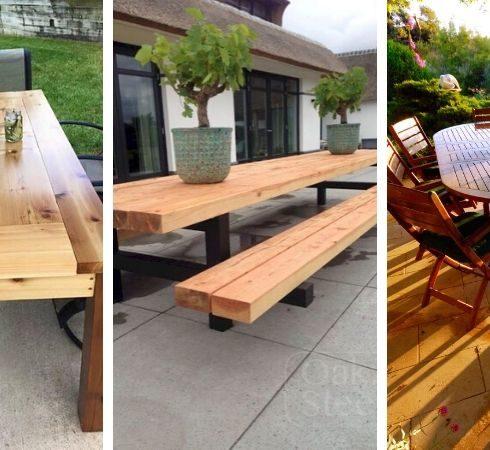 уличная мебель из дерева