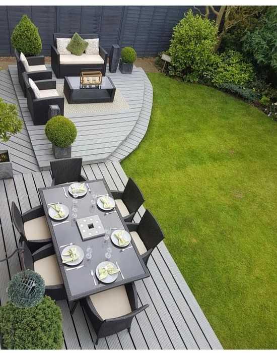 оформление двора частного дома