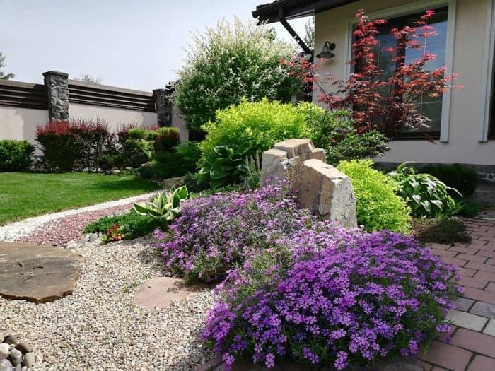 дизайн сада возле дома