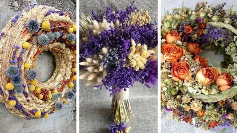 букет из засушенных цветов