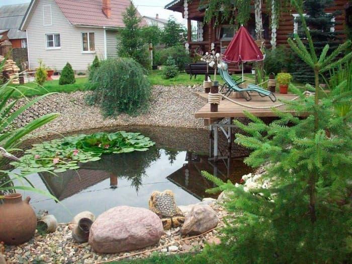 пруд во дворе