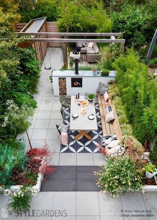 обустройство двора частного дома