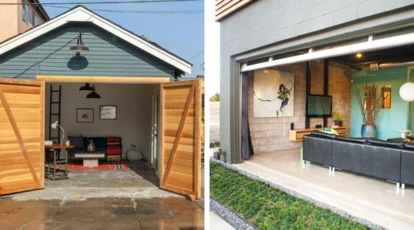 переделка гаража в дом